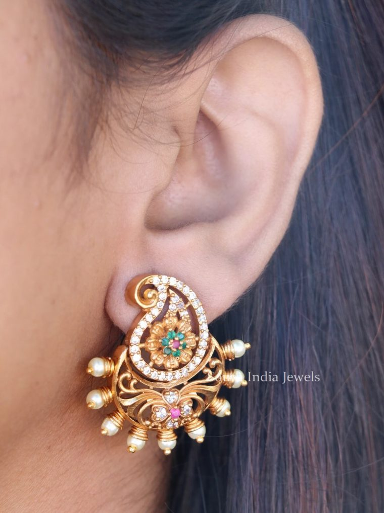 Peacock Design Statement Earrings