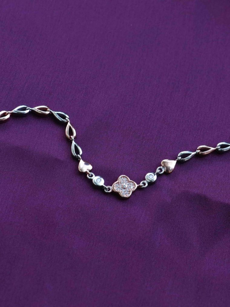 Pretty Design Rose Gold Sterling Silver Bracelet