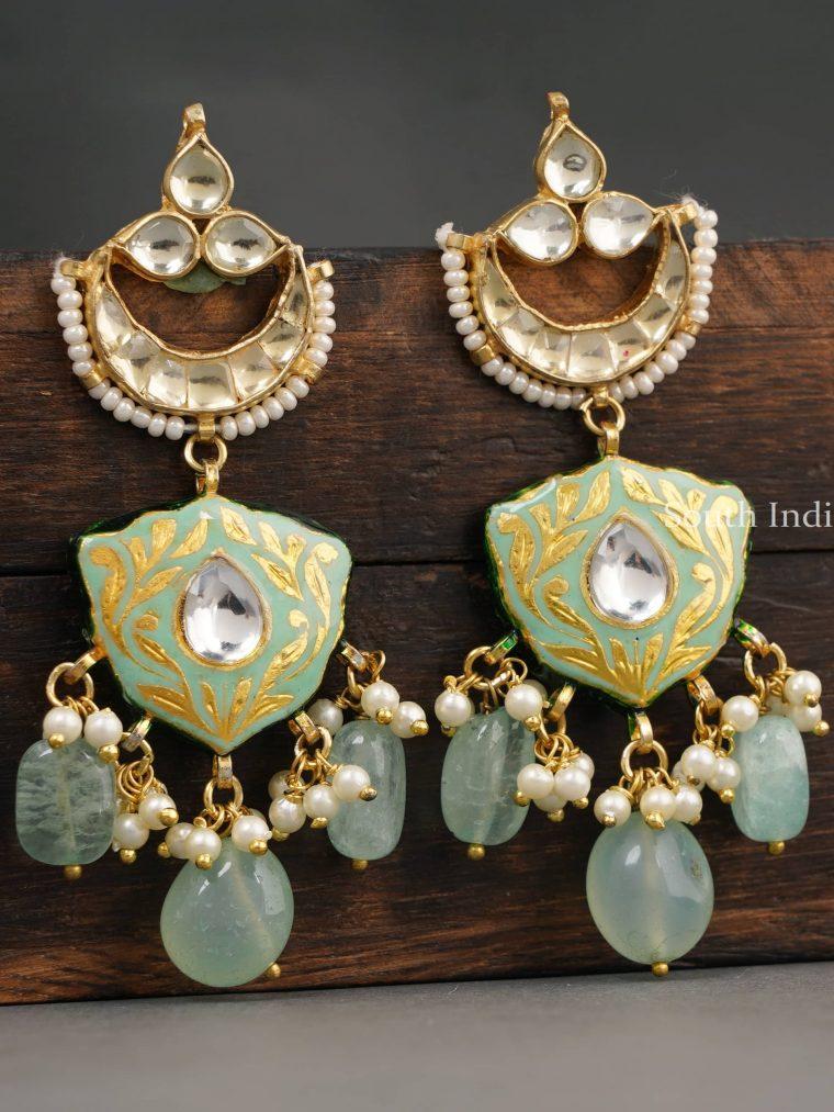 Pretty Kundan Drop Earrings