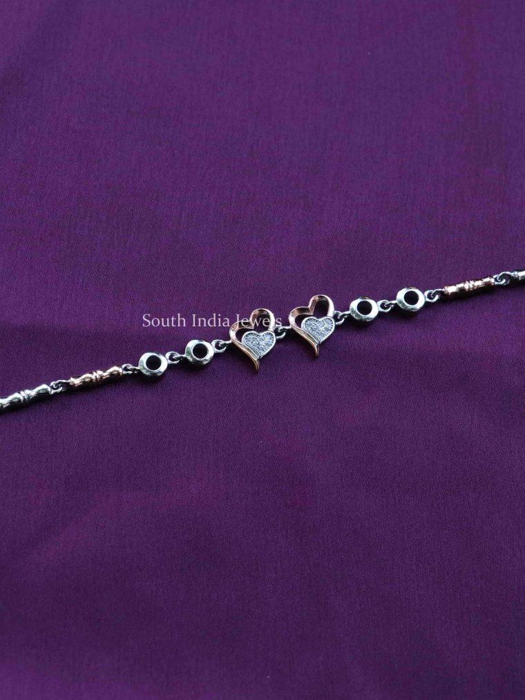 Rose Gold Sterling Silver Adjustable Bracelet