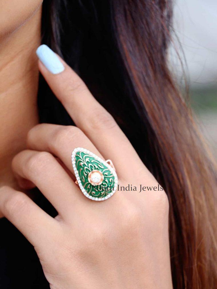 Rose Gold Sterling Silver Finger Ring