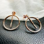 Round Ring Rose Gold Earrings (2)