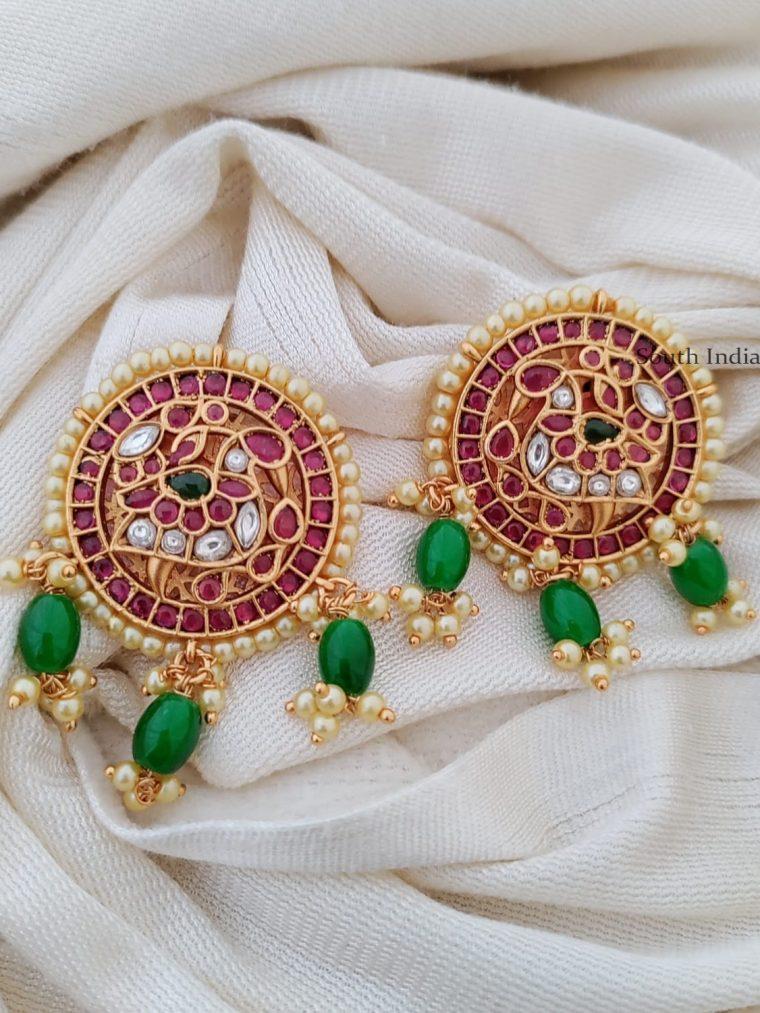 Royal Kemp Stone Peacock Earrings