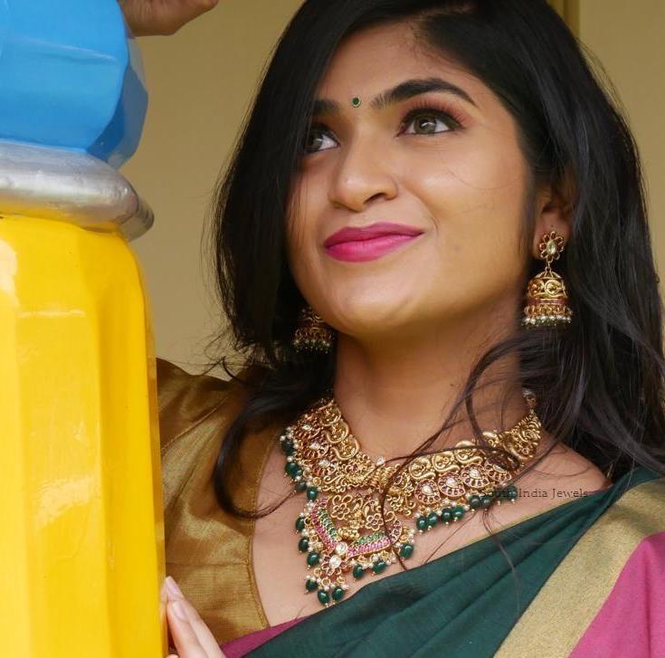 Royal Peacock Lakshmi Choker