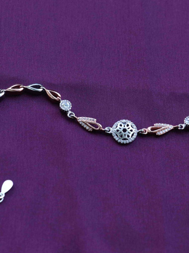 Simple Design Rose Gold Sterling Silver Bracelet