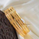 Simple Gold Finish Bangles