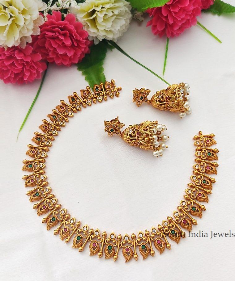Simple and Elegant Matte Finish Necklace Set