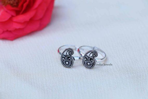Sterling Silver Cutwork Toe Rings