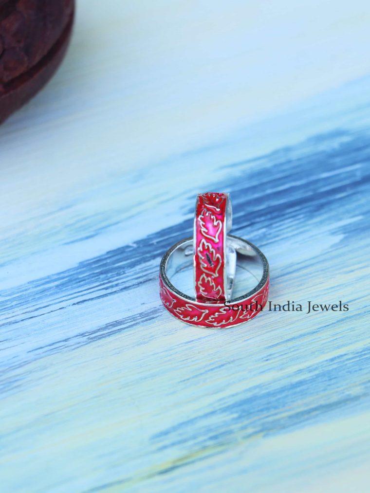 Sterling Silver Enamel Toe Rings