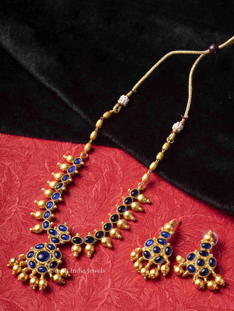 Stunning Blue Kemp Stone Necklace