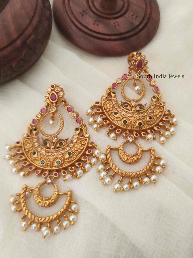 Stunning Chandbali Pearls Earrings