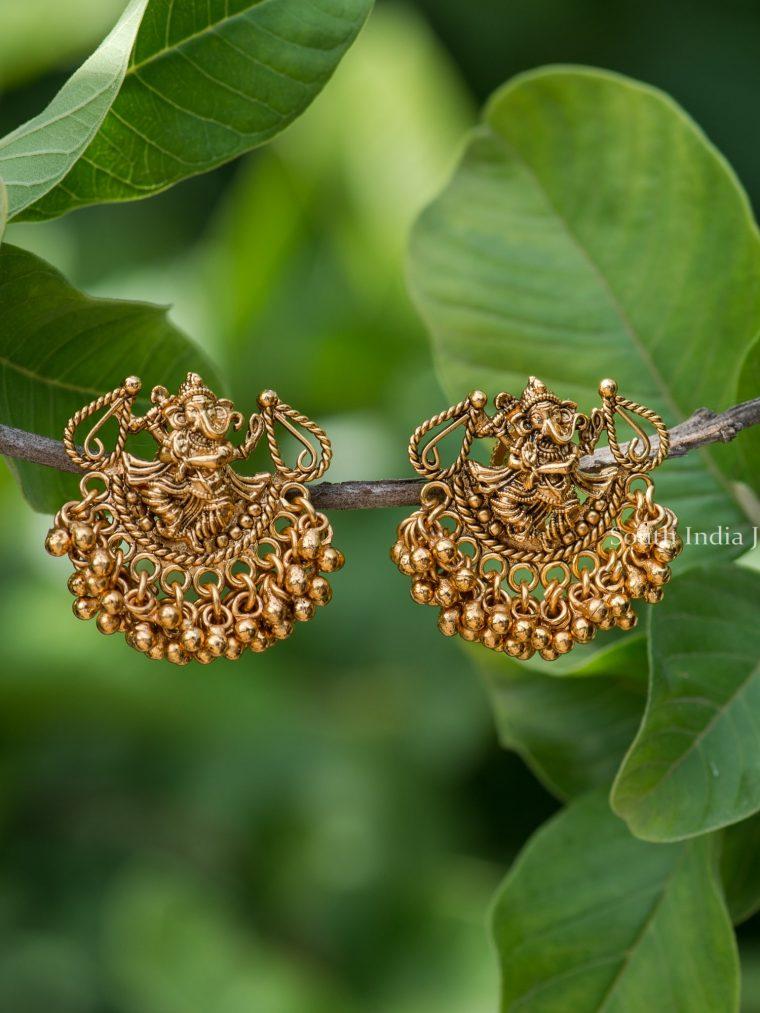 Stunning Dancing Vinayagar Earrings