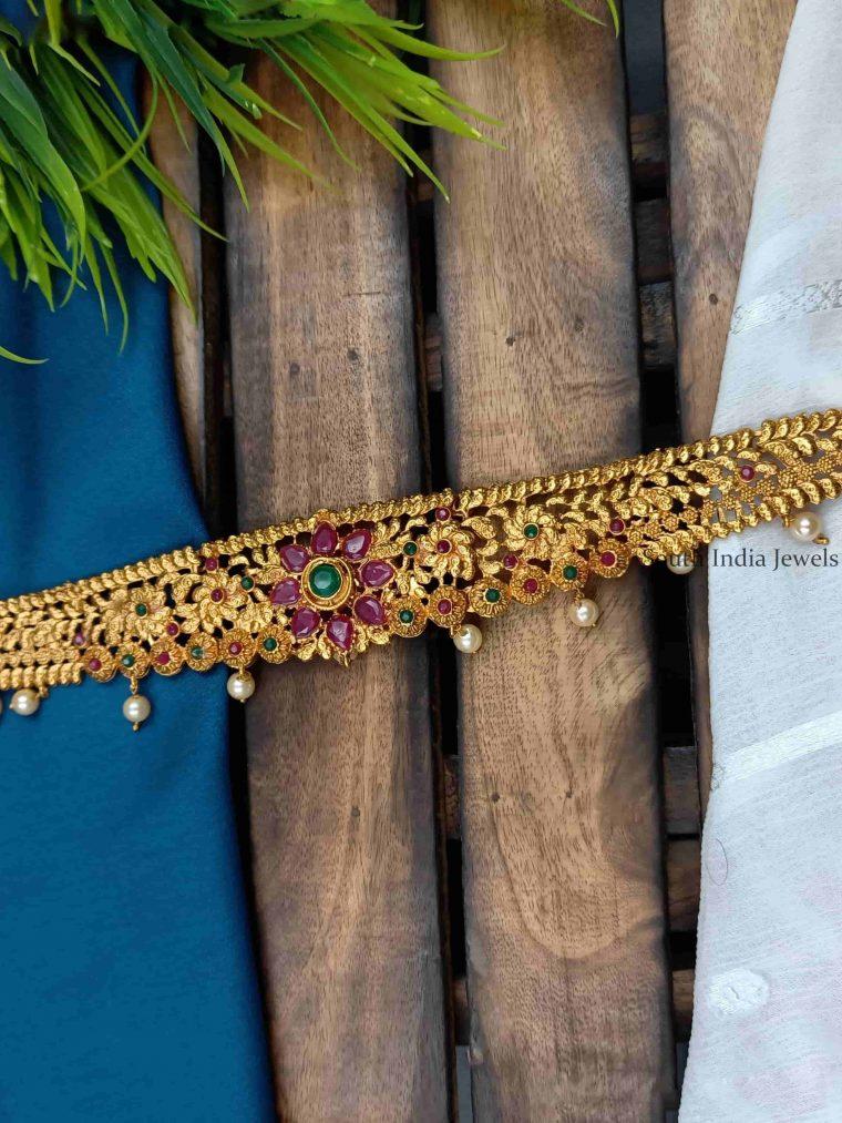 Stunning Floral Design Hip Chain3333333333333