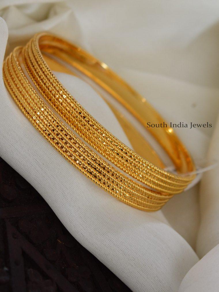 Stunning Gold Finish Bangles