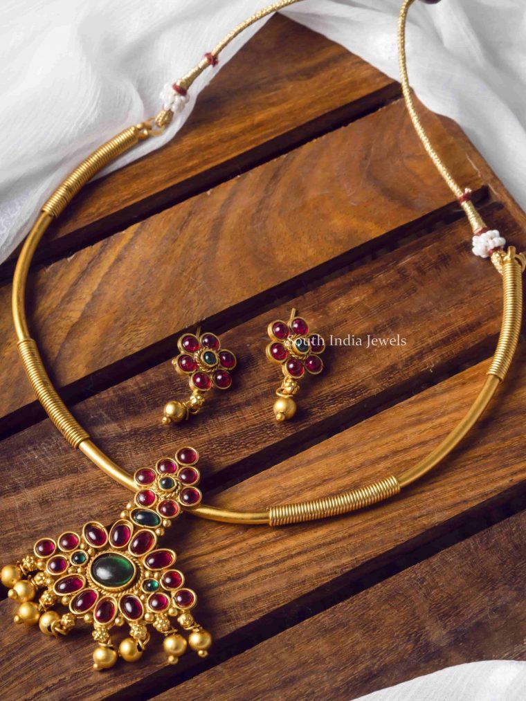 Stunning Green & Pink Kemp Stone Necklace