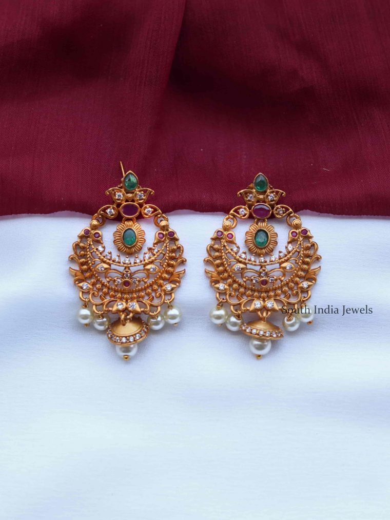 Stunning Multicolor Chandbali Earrings