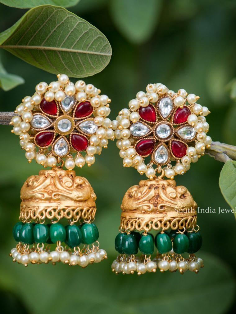 Stunning Pearls Jhumkas