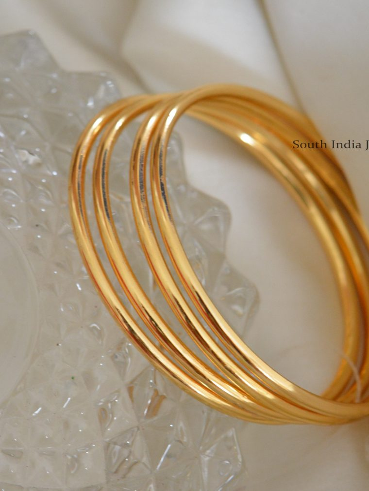 Stunning Plain Gold Bangles