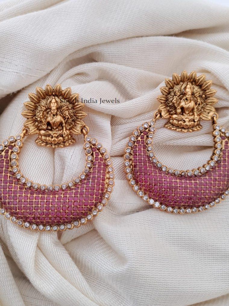 Stunning Ram Leela Ruby Earrings
