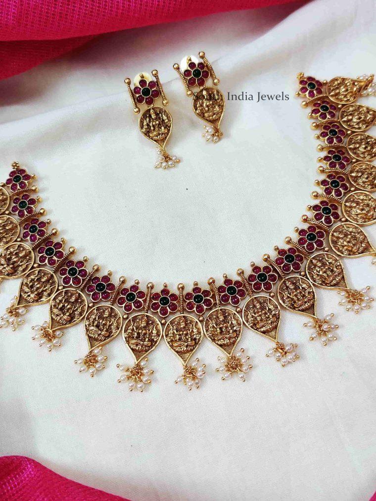 Temple Design Leaf Necklace