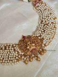 Traditional Lakshmi Design Pearls Necklace