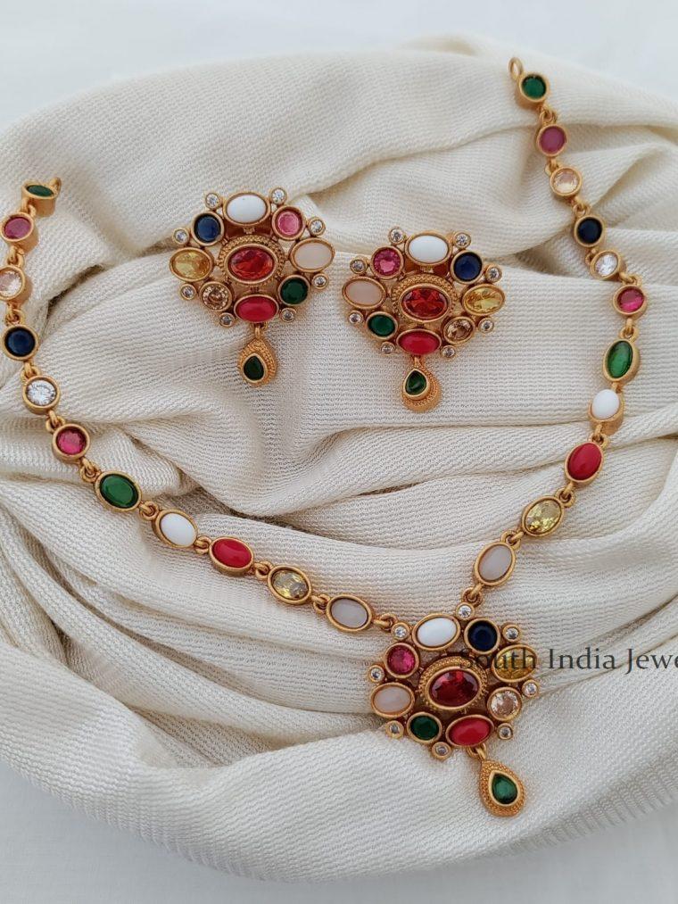 Traditional Navarathna Necklace