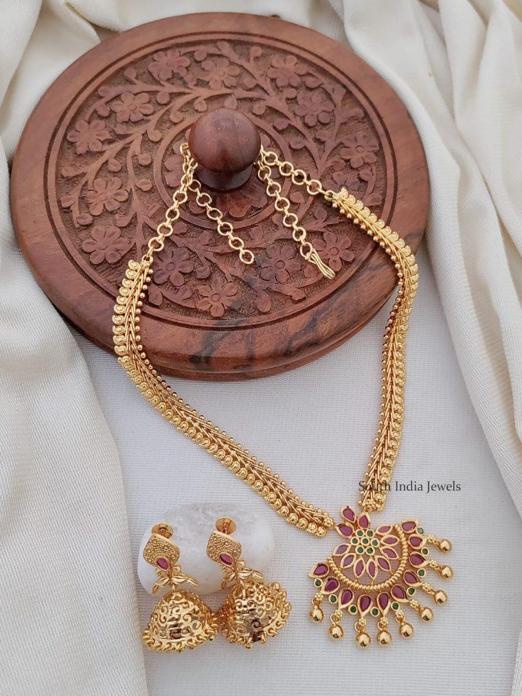 Trendy Mango Design Necklace Set