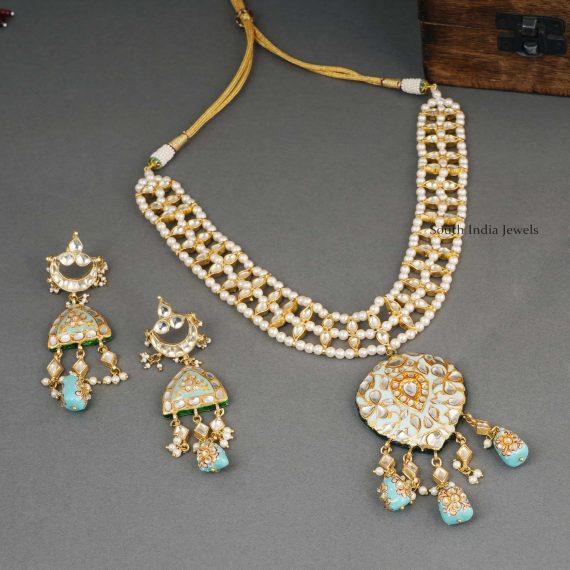 Turquoise Kundan Wedding Necklace (3)