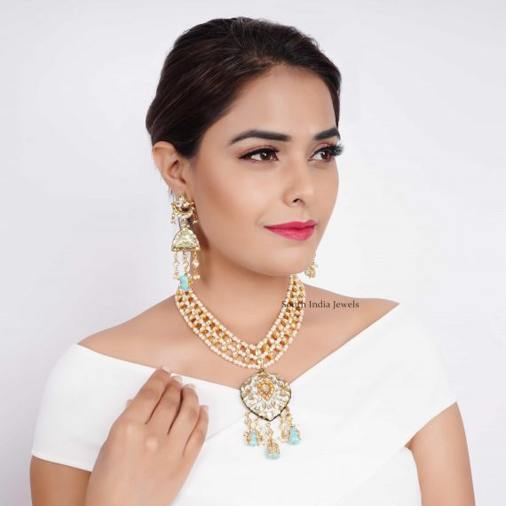 Turquoise Kundan Wedding Necklace (4)