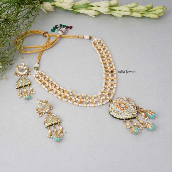 Turquoise Kundan Wedding Necklace
