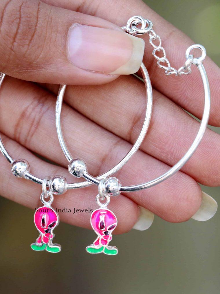 Twiity Design 92.5 Sterling Silver Baby Bracelet