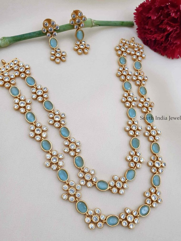 Two Layer Floral Design Necklace