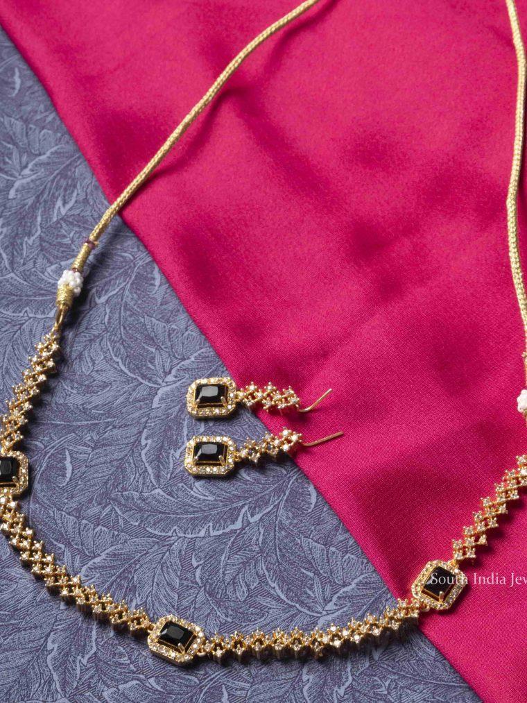 Unique Black Stone Necklace