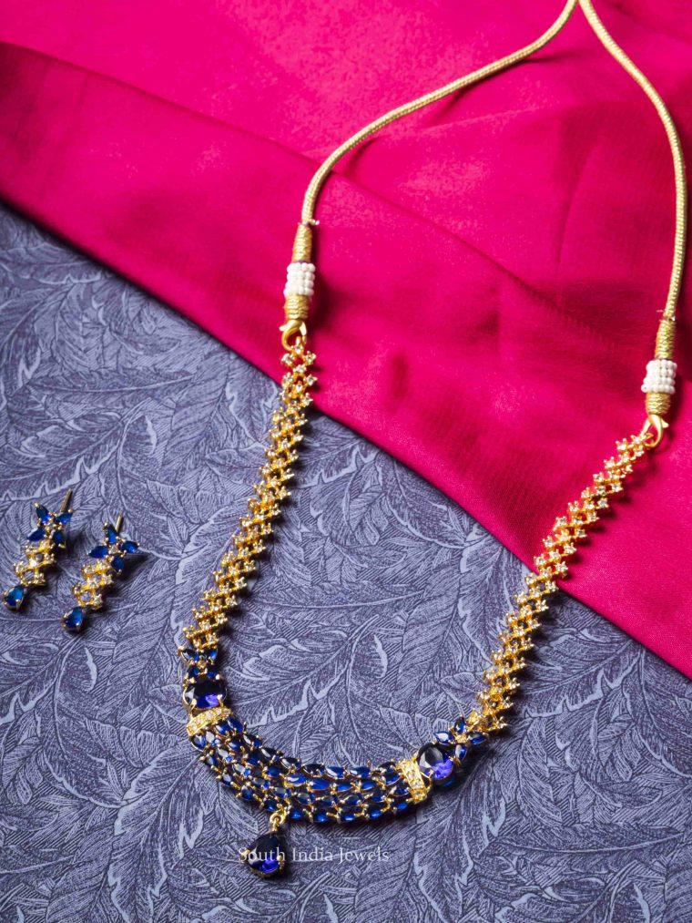 Unique Blue Stones Necklace