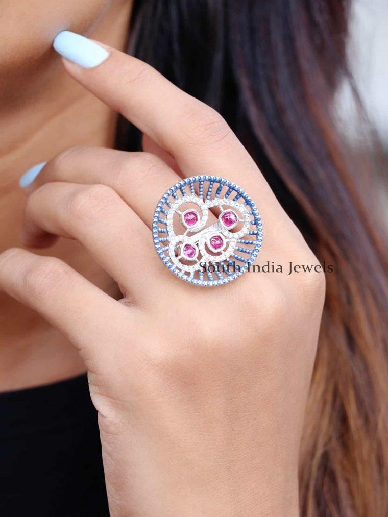 Unique Design Sterling Silver Finger Ring