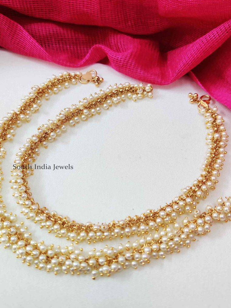 Unique Pearl Beads Anklets
