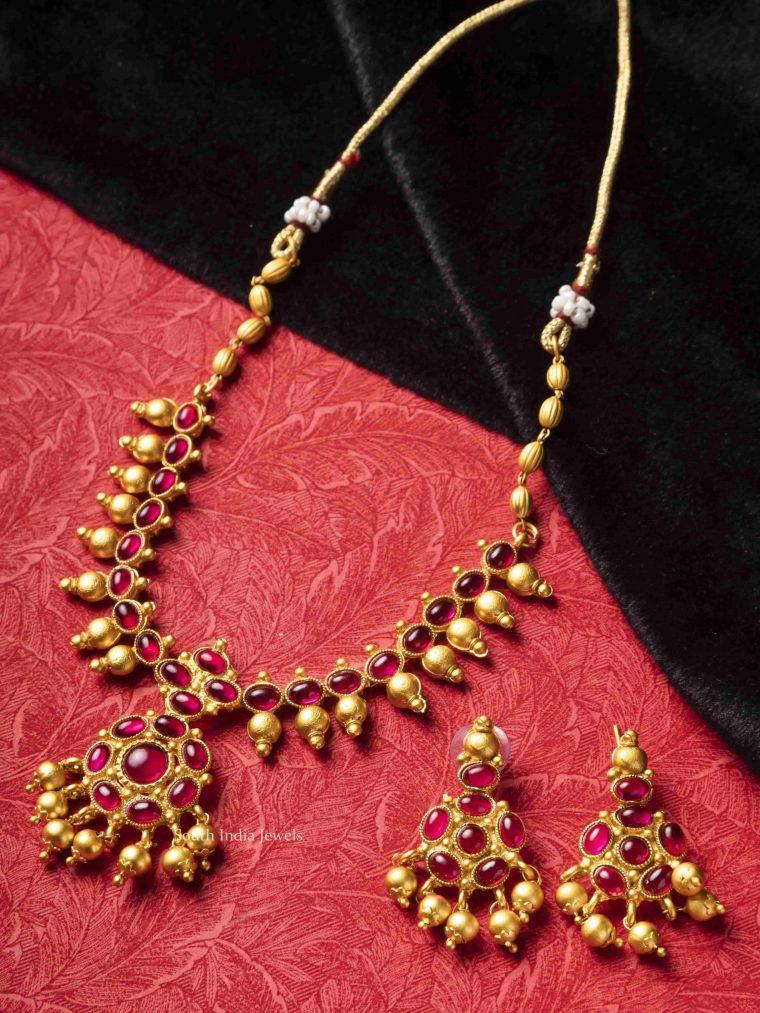 Unique Pink Kemp Stone Necklace