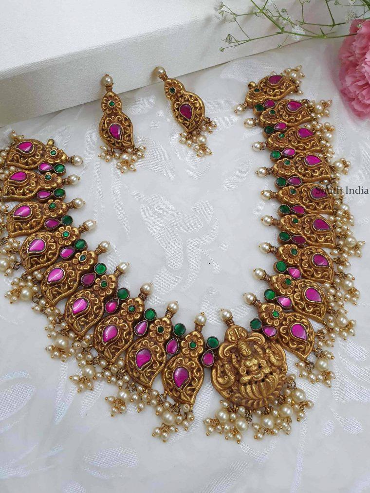 Uniquely Crafted Lakshmi Necklace Set