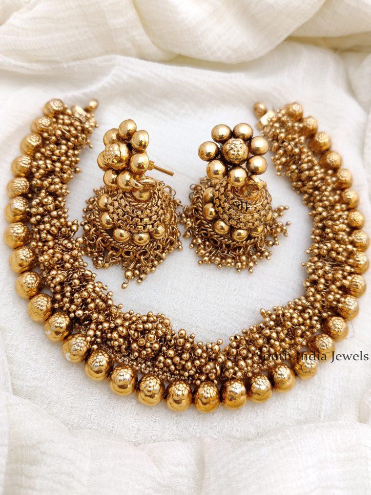 Amazing Antique Gold Bead Necklace