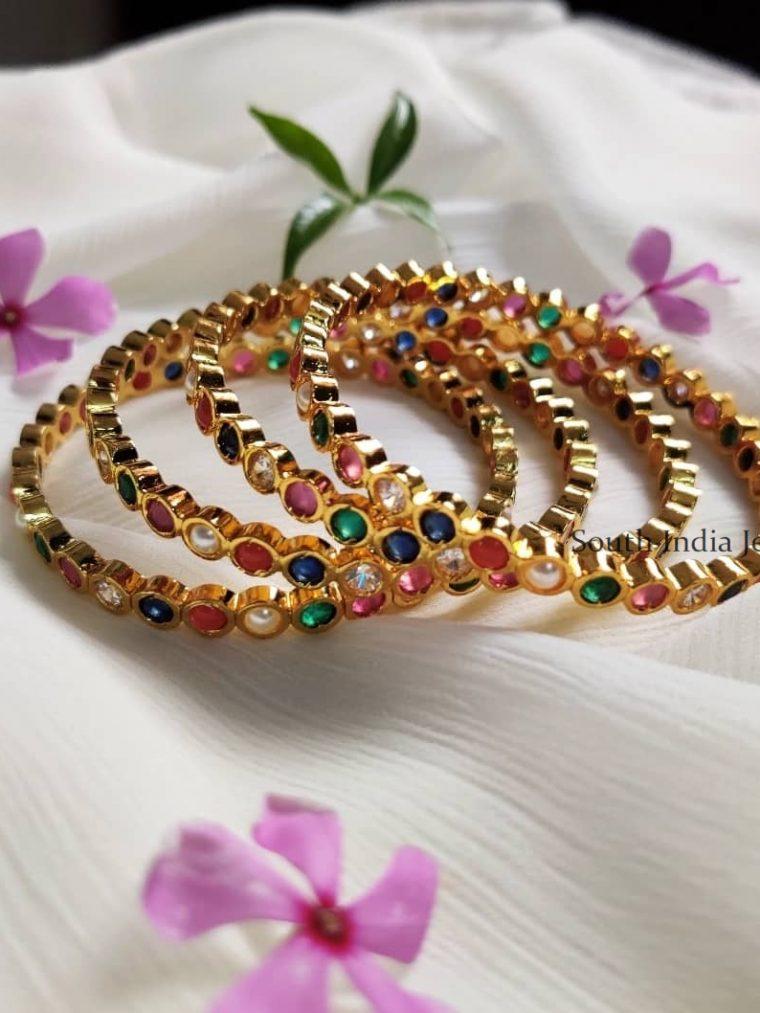 Trendy Navarathna Stone Bangles