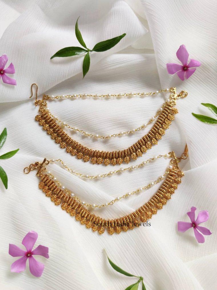 Antique Lakshmi Coin Ear Chain