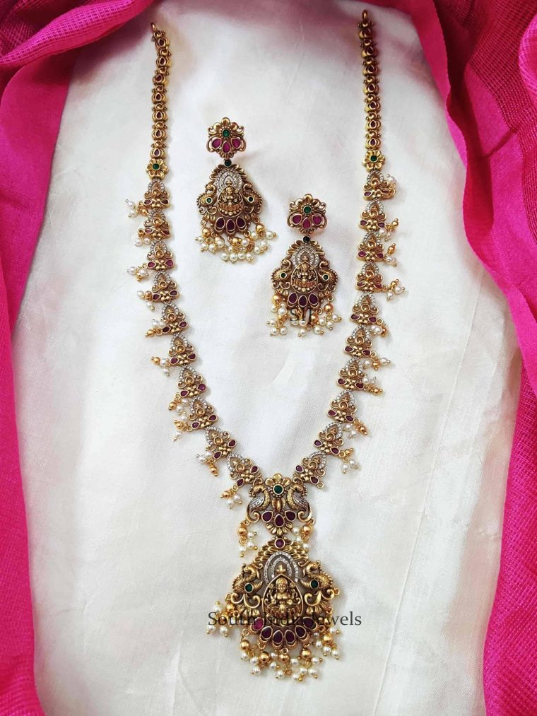 Antique Design Lakshmi Pendant Long Haram