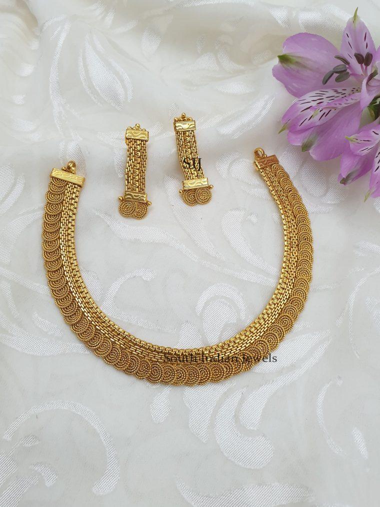 Antique Designer Gold Finish Necklace