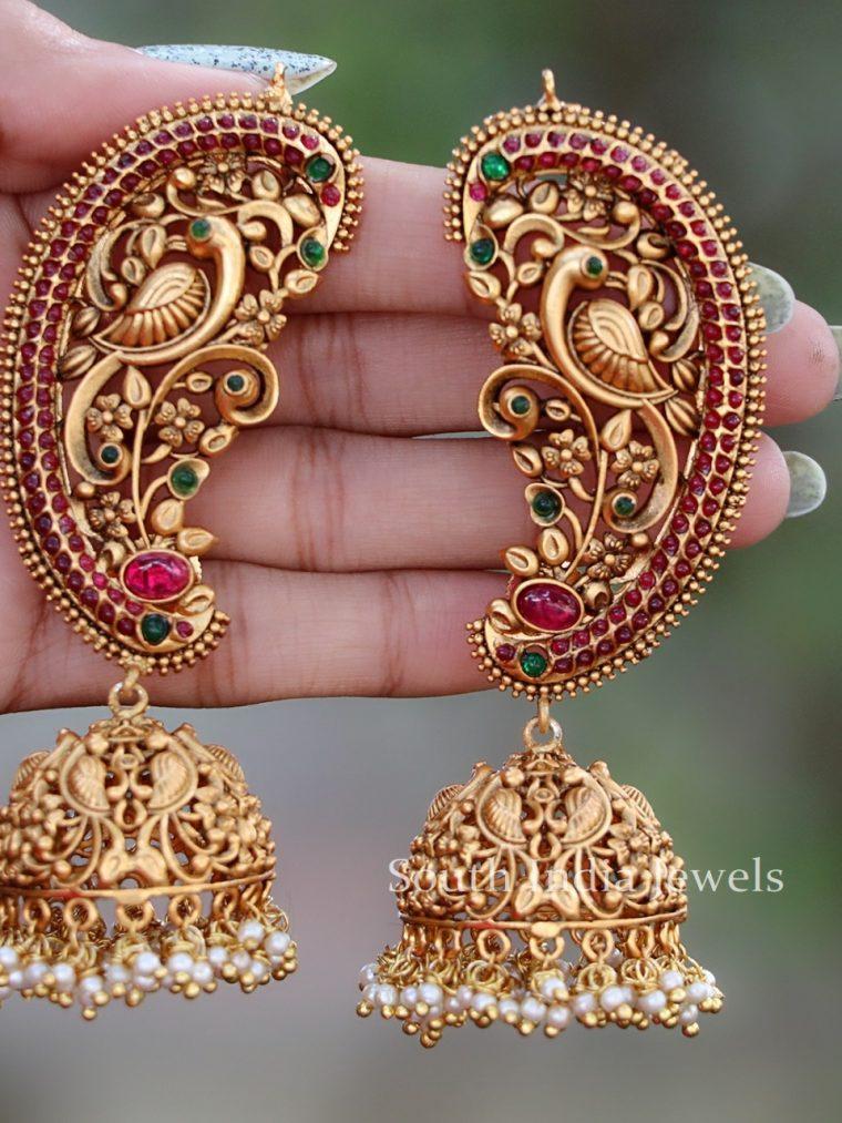 Antique Ear Cuff Jhumka Earrings (2)