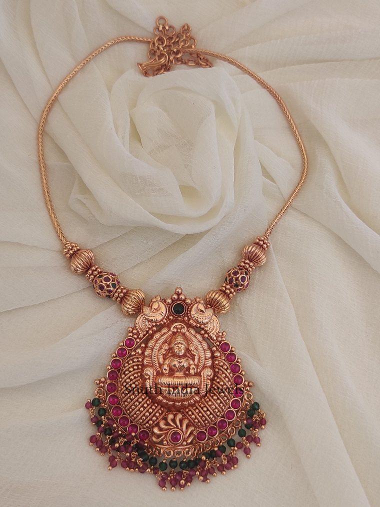 Antique Lakshmi Design Beads Necklace