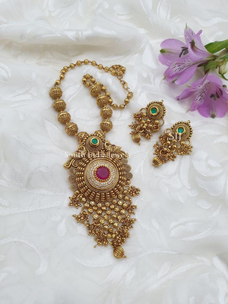 Antique Multicolor Beads Necklace (3)