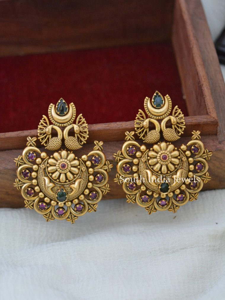 Antique Peacock Design Earrings