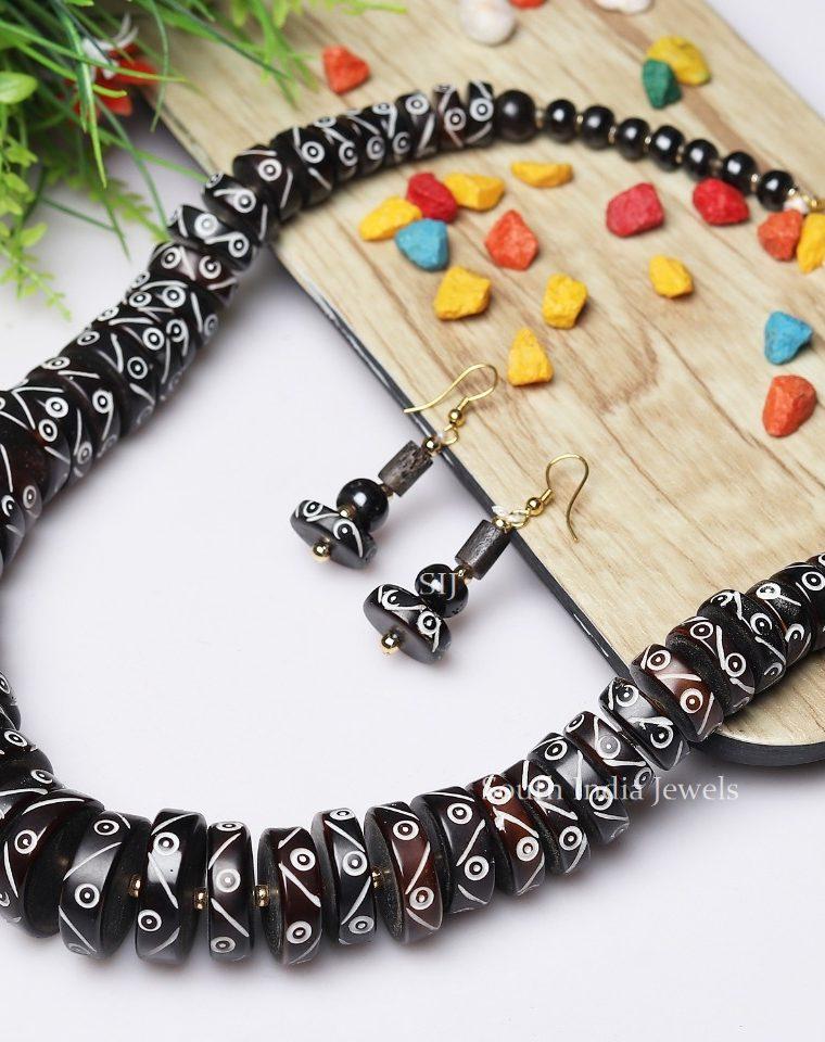 Antique Tribe Style Black Necklace Mala