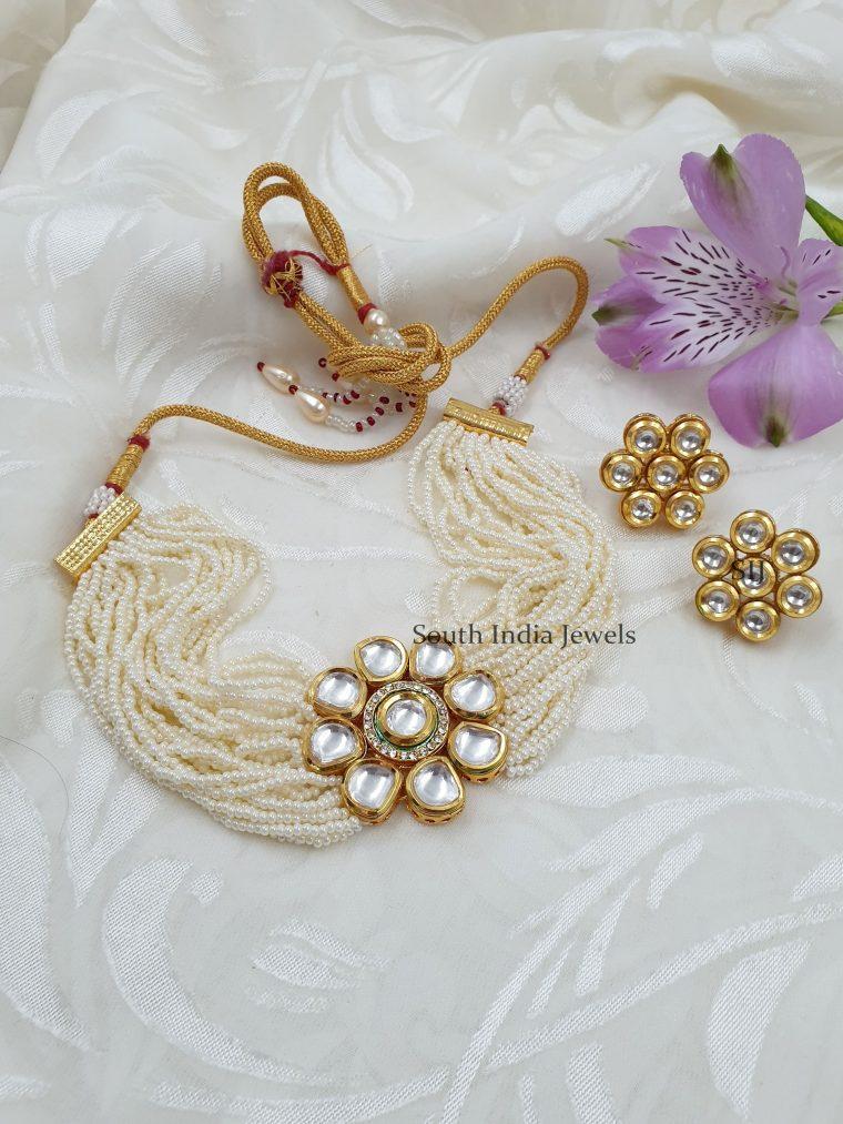 Attractive Kundan Pearls Choker