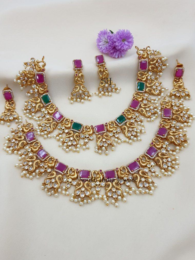 Attractive Matte Finish Designer Necklace